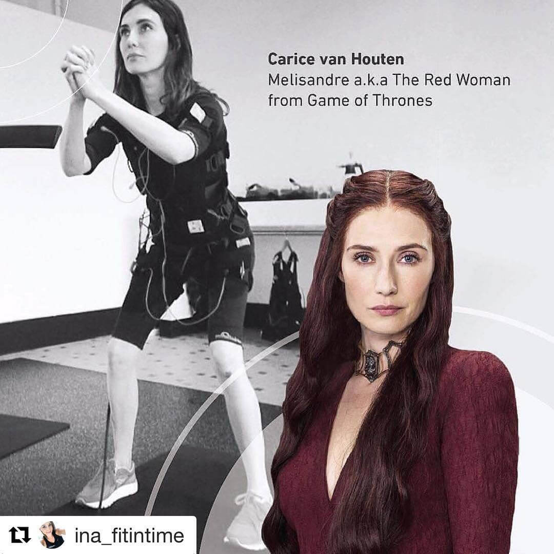 Carice Van Houten - actress from Game of Thrones - uses EMS.