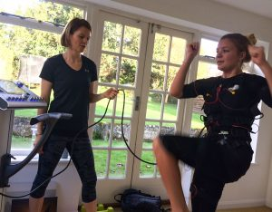 ems training at home with a personal trainer