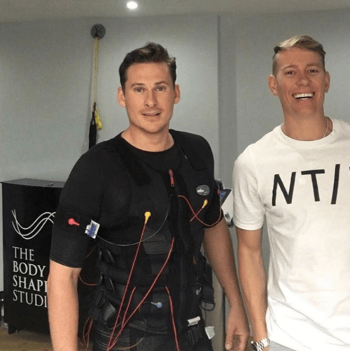 Lee Ryan - Pop star & Strictly Come Dancing contestant - uses EMS.
