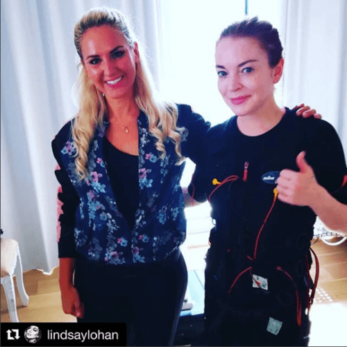 Lindsay Lohan - actress and model - uses EMS.